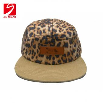 cappello snapback in cotone naturale con patch lether